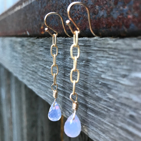 14K GF Scorolite Earrings