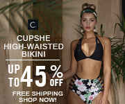 Cupshe High-waisted Bikini! Up to 45% Off! Free Shipping! Shop Now!