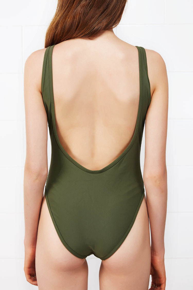 Be An Optimist Lace Up One-piece Swimsuit