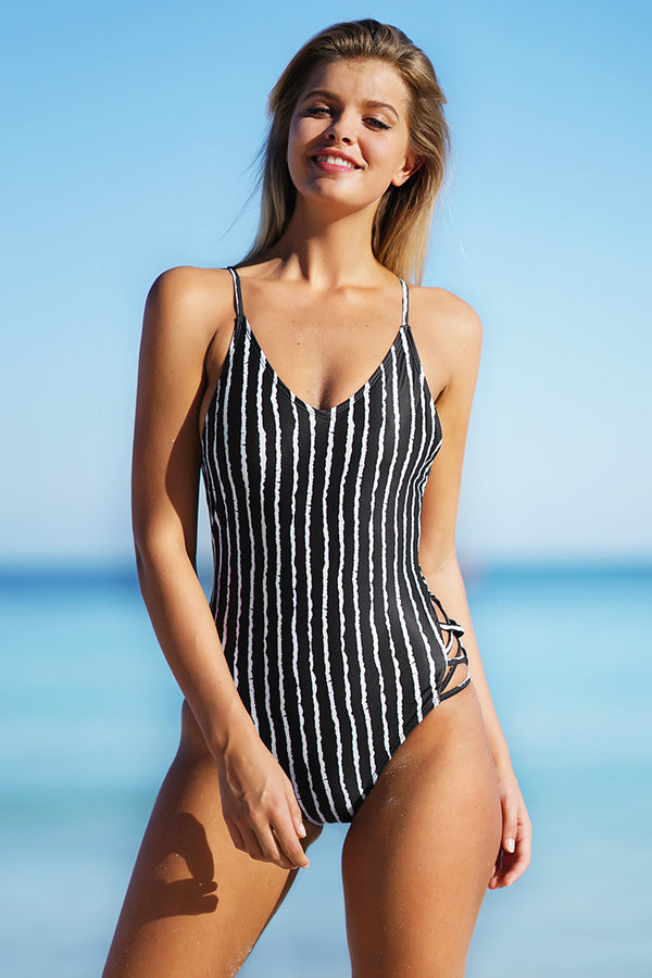 Little Lady Stripe One-piece Swimsuit