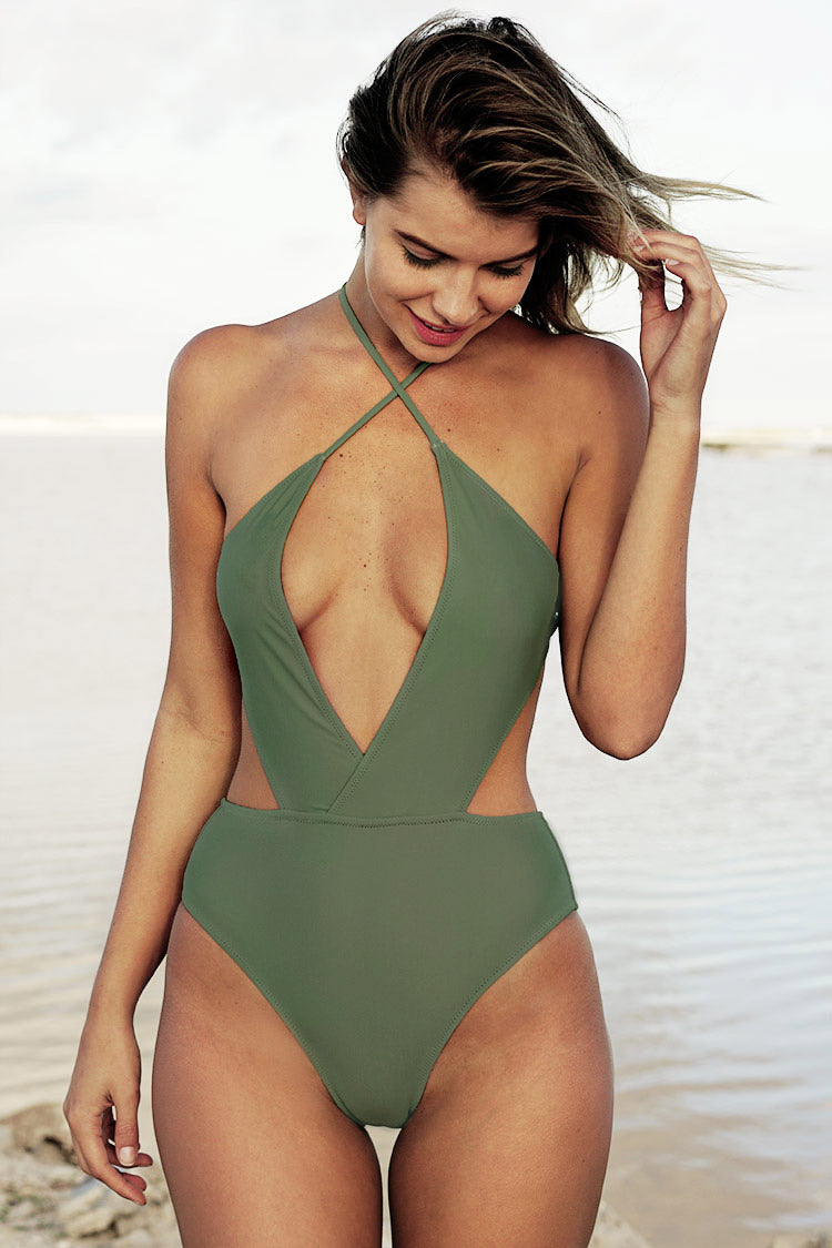 She's The Man Halter One-piece Swimsuit