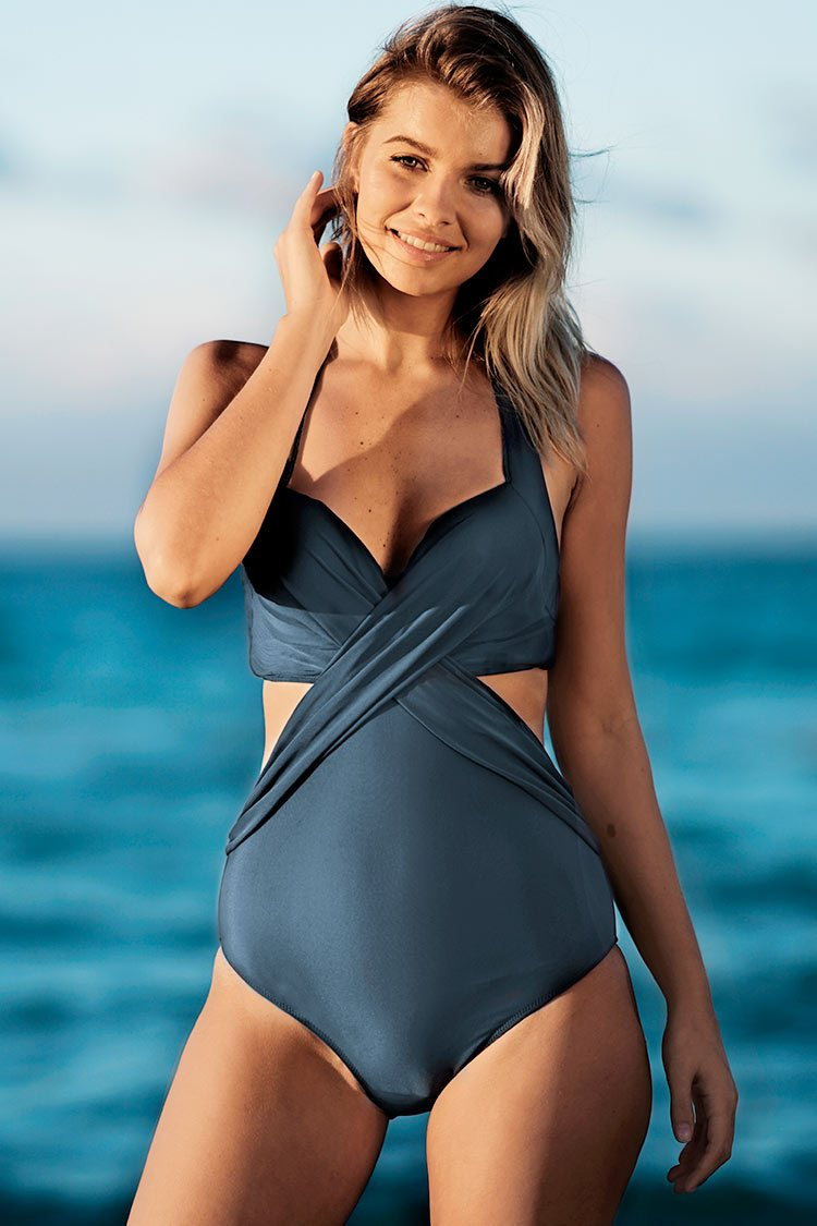 Artistic Temperament Halter One-piece Swimsuit