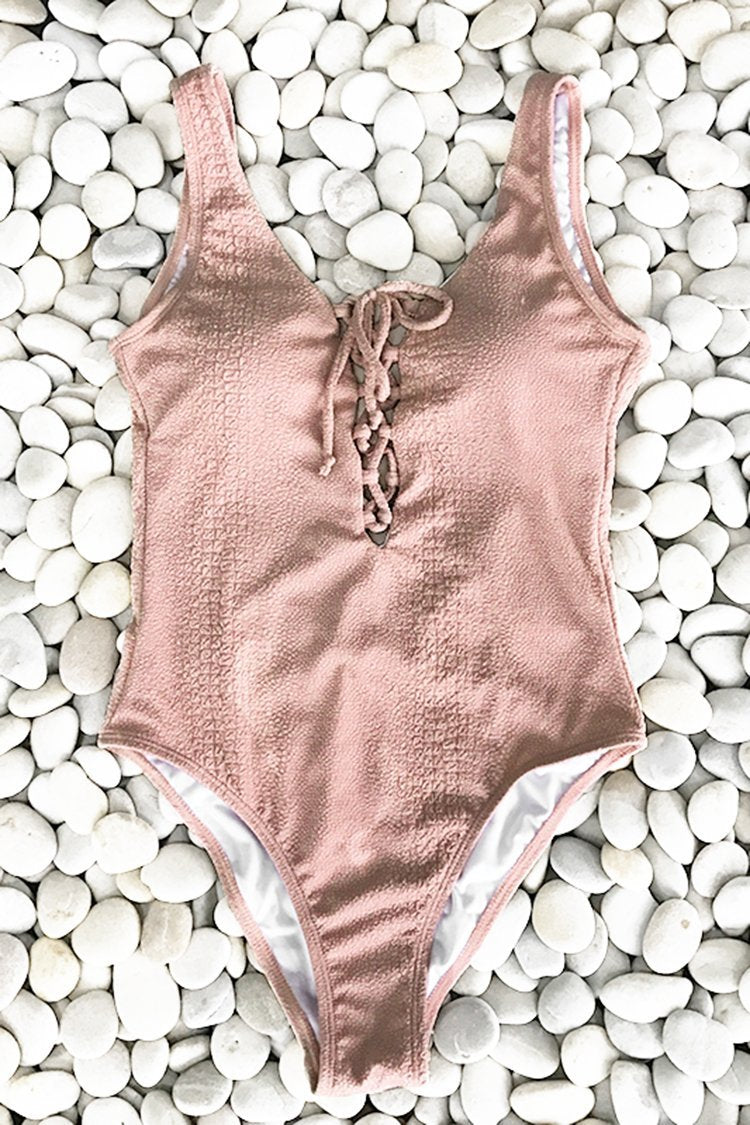 Sweet Love Solid One-piece Swimsuit