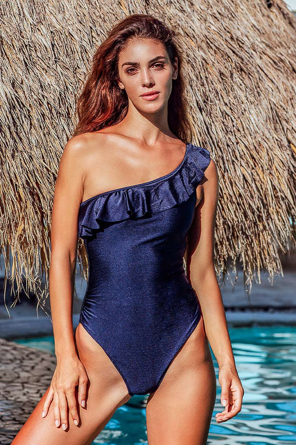 Enjoy It One Shoulder One-piece Swimsuit