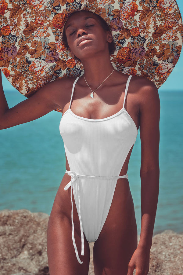 White High Cut One-Piece Swimsuit