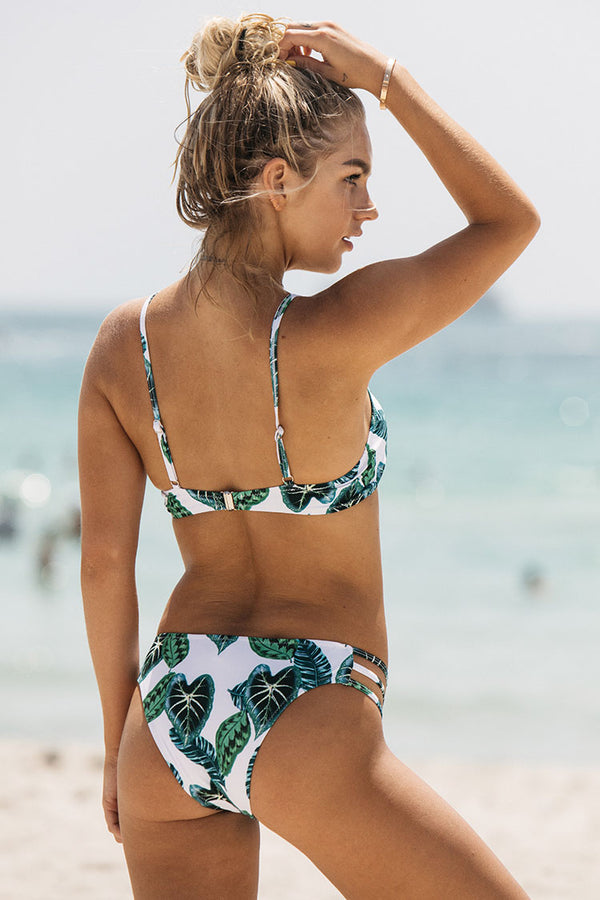 Green Jade Leaves Bikini Set