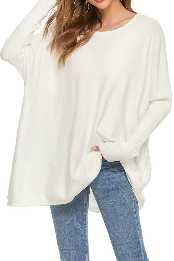 Off the Shoulder Oversized Sweater