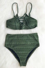 Cupshe Perfect Emerald Lace Bikini Set