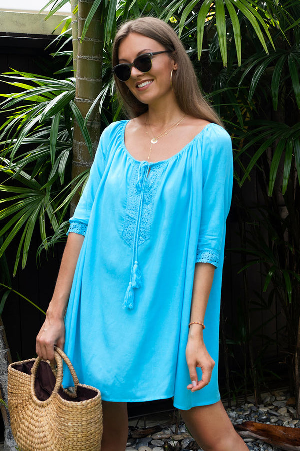 Blue Crochet Cover Up