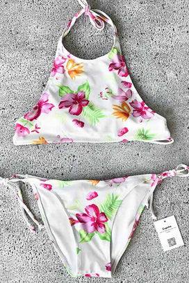 Cupshe Lost in Flowers Tank Bikini Set
