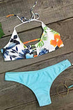 Cupshe Chic Lady Floral Halter Bikini Set