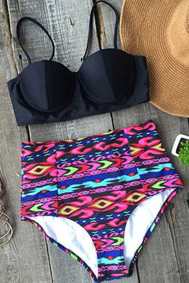 Cupshe Got It Covered High-waisted Bikini Set
