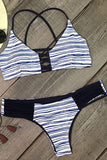 Cupshe Who I Am Stripe Bikini