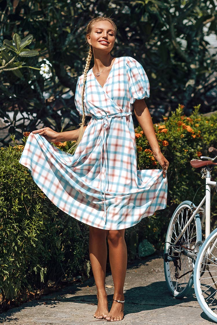 Sweet Plaid Midi Dress
