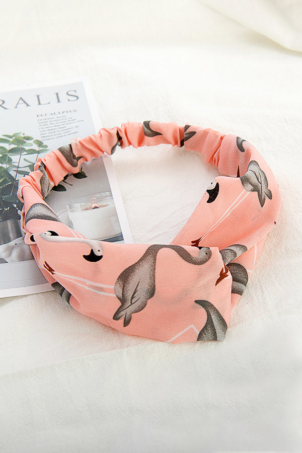 Pink Flamingo Print Headbands