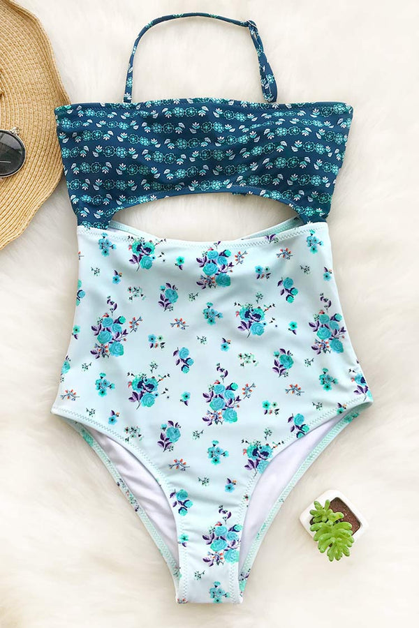 Lost Butterfly Print One-piece Swimsuit