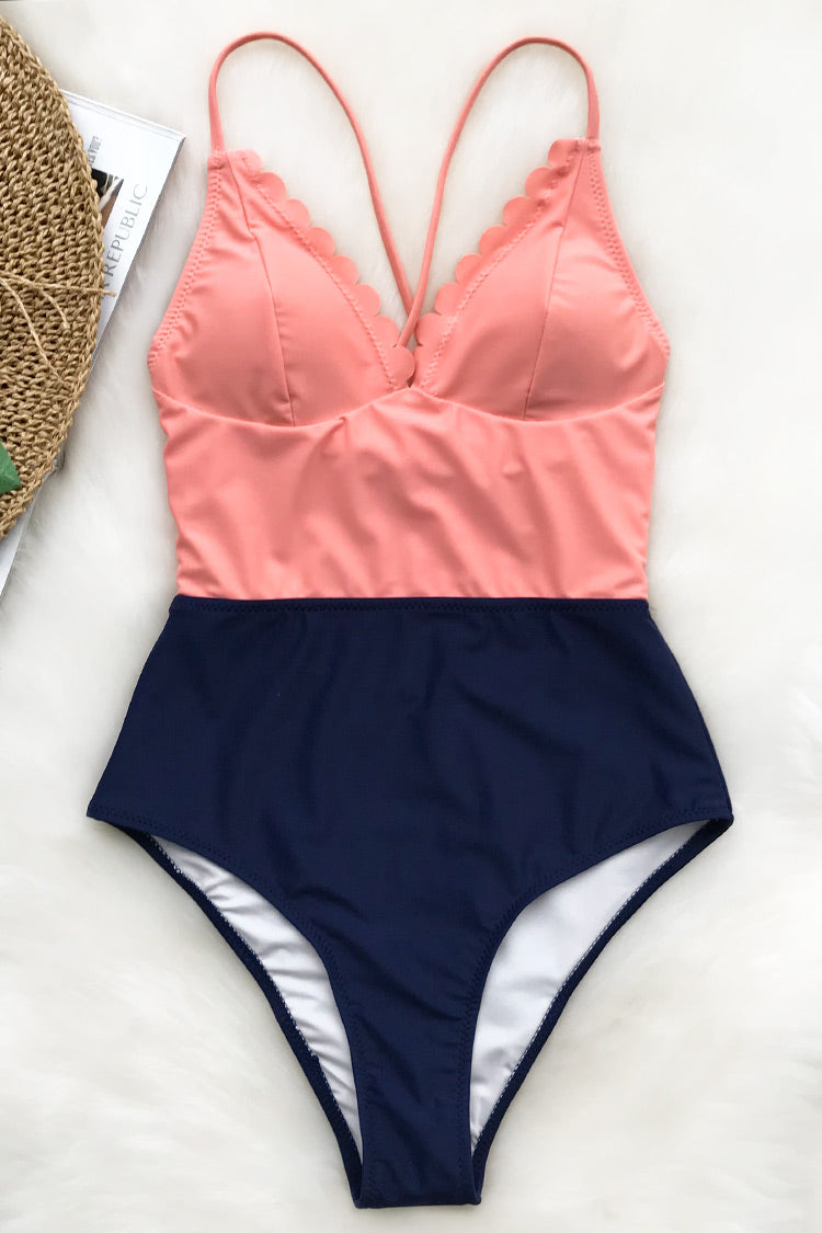 The swimsuit brightens your day. Product Code CYY21373 Details Wavy edge Tie at back Removable padding bra Regular wash Fabric 80% polyestern, 20% spandex Reference model try on SIZE M, height 5\'8, weight 150 lbs, bust 36C SIZE(IN) USA UNDERBUST WAIST HIP S 4/6 24.4 23.6 29.9 M 8/10 25.9 25.2 31.5 L 12/14 27.6 26.8 33.1 XL 16/18 29.1 28.3 34.7 XXL 20 30.7 29.9 36.2 size chartplease allow 0.4-0.8 differs due to manual measurement Swim Top Sizing Guide S M L XL XXL 32C 32D 34A 34B 34C 34D 36A 36B 36C 36D 38A 38B 38D 40B 40C 40D 42D 42B 42C 40D