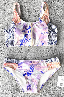 Cupshe Enable Safety Floral Tank Bikini Set