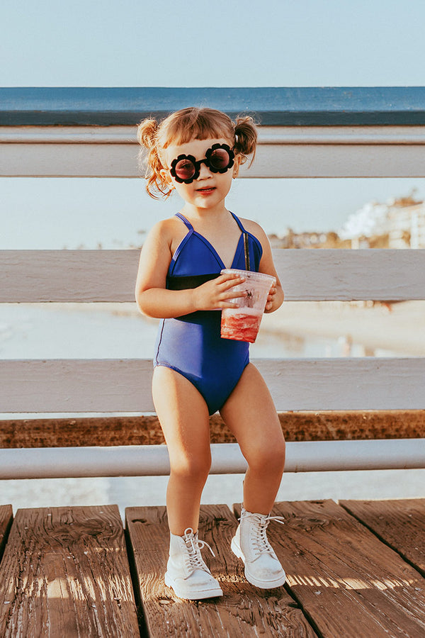 Diana V-neck Crisscross One Piece Swimsuit For Toddler Girls And Girls