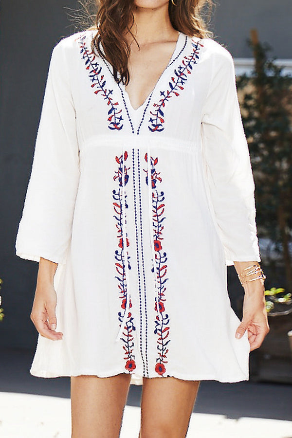 Eternal Vacation Embroidery Dress