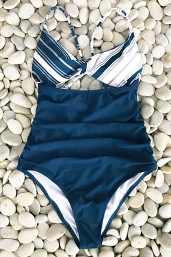 Sparkle In The Sun Cross One-piece Swimsuit