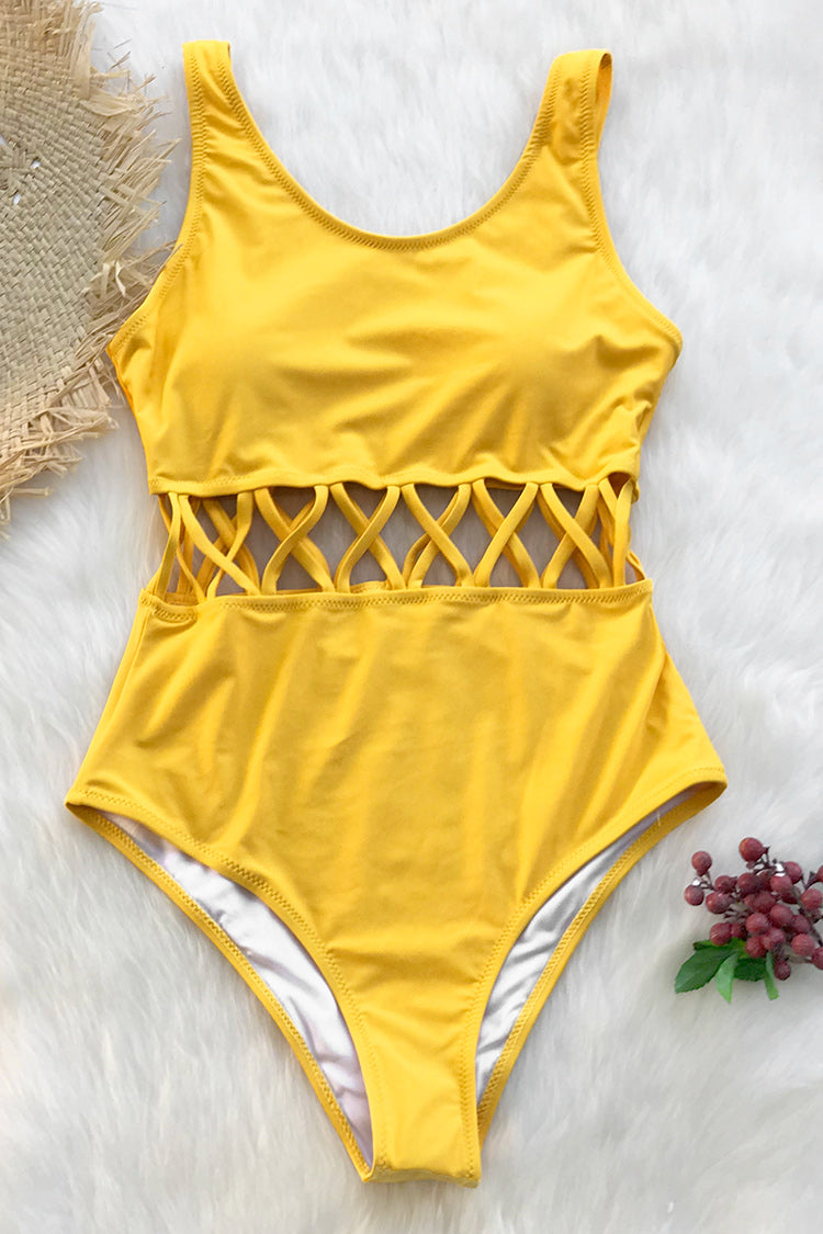Ocean Story Solid One-piece Swimsuit