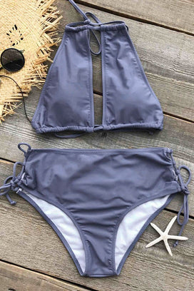 Cupshe Cold Wind Halter Bikini Set
