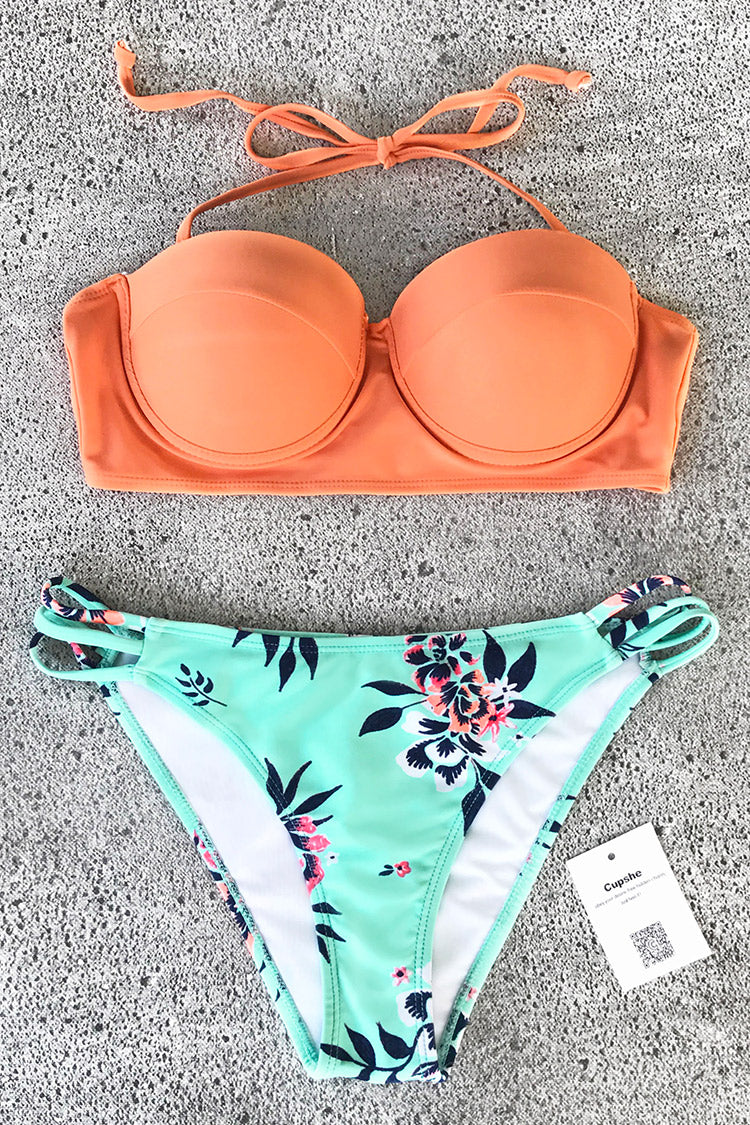 Cupshe Shining Gloriously Print Bikini Set CYY1060M