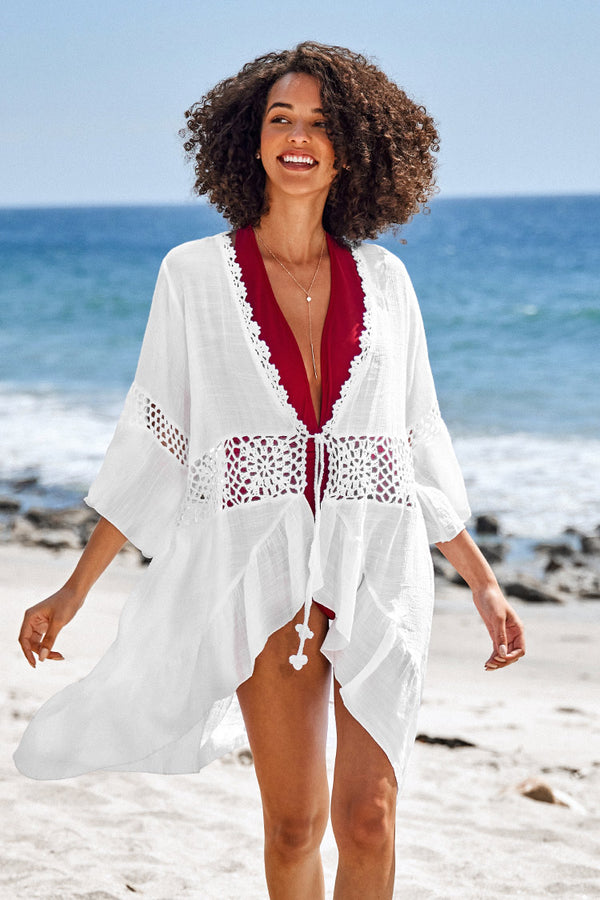 Crochet Ruffle Cover Up