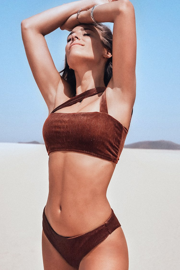 Burnt Orange Velvet Bikini