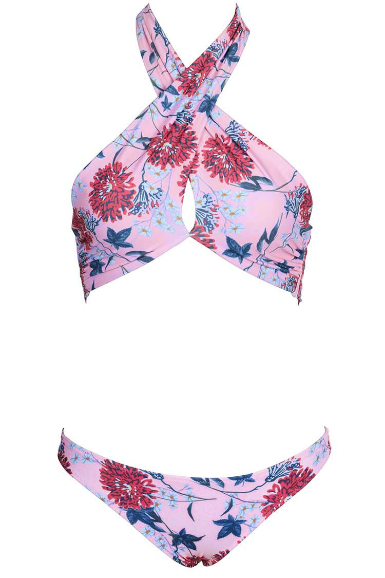 You invite all eyes on you.Product Code CYY700Details Floral print Halter design Tie at back No padding bra Notice every pattern is unique Fabric Chinlon,Elastane Reference model try on SIZE M, height 5'9, weight 155 lbs, bust 36C SIZE(IN) US BUST WAIST HIP S 4/6 26.0 27.6 29.9 M 8/10 27.6 29.1 31.5 L 12/14 29.1 30.7 33.1 XL 16/18 30.7 32.3 34.7 XXL 20 32.3 33.9 36.2 size chartplease allow 0.4-0.8 differs due to manual measurement Swim Top Sizing Guide S M L XL XXL 32C 32D 34A 34B 34C 34D 36A 36B 36C 36D 38A 38B 38D 40B 40C 40D 40A 40B 40C 40D