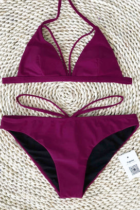 Cupshe War At Beach Halter Bikini Set