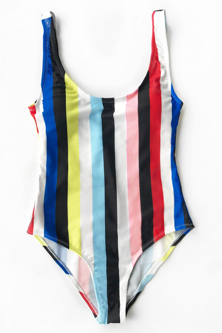Costum de baie CUPSHE Colorful