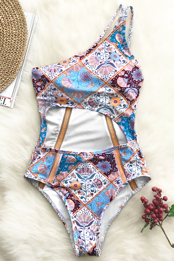 Wishful Wanderings Print One-piece Swimsuit