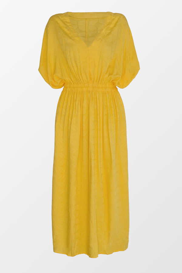 Roselyn Ruched V Neck Dress
