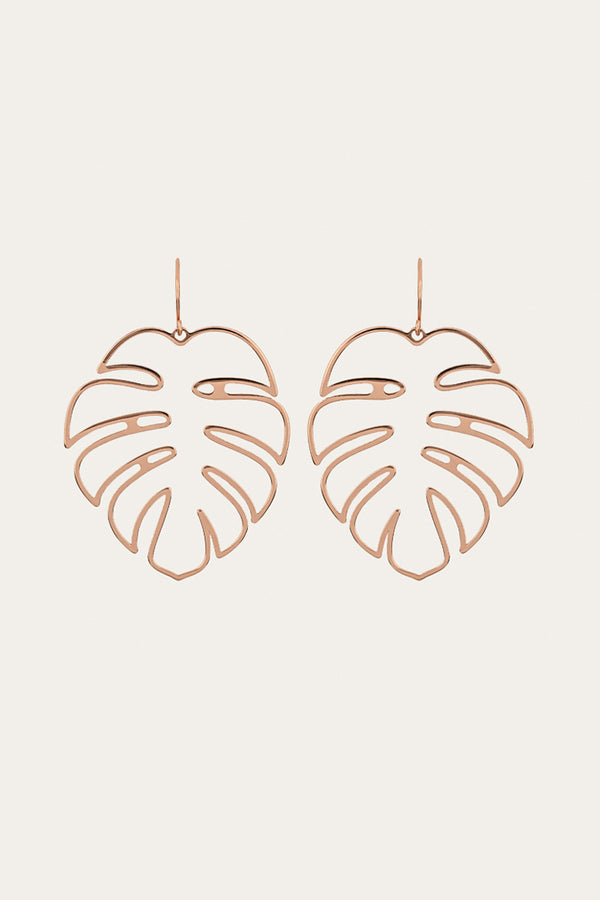 Golden Palm Leaf Earrings