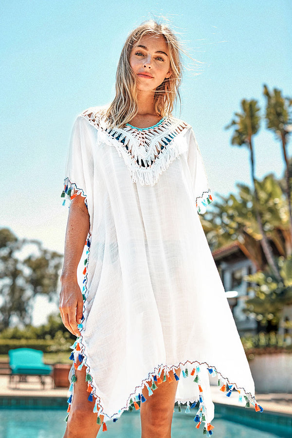 Colorful Tassel Trim Cover Up