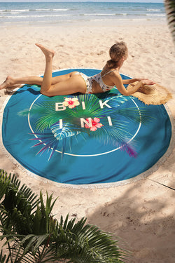 Tropical Palm Round Beach Towel