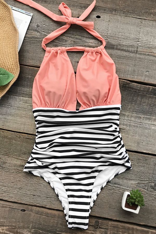 Surprise Party Halter One-piece Swimsuit