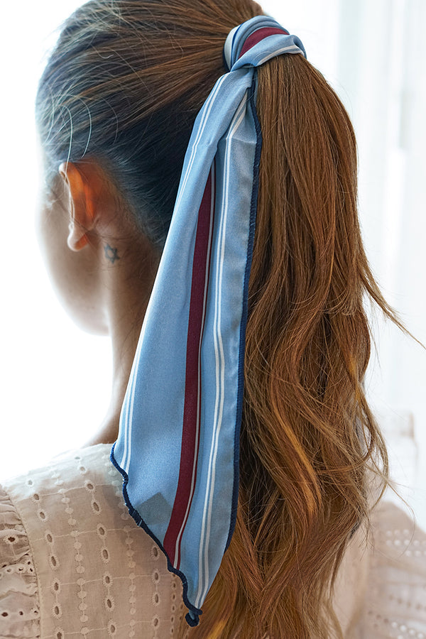 Blue Rust Stripe Bandana