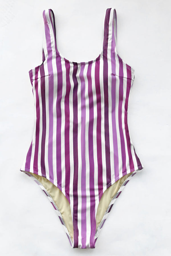 Envy You Stripe One-piece Swimsuit