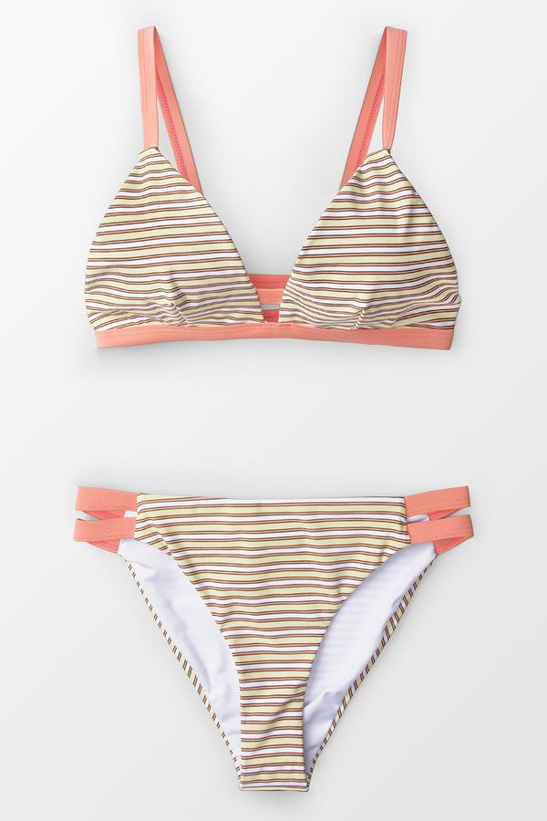 Essential Stripe Triangle Bikini