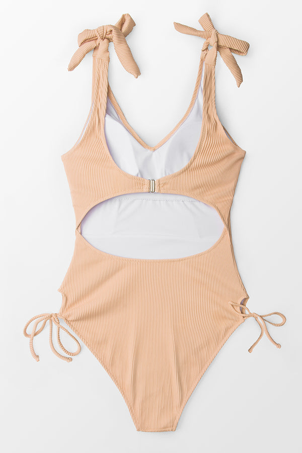 Pink Bow Tie One-Piece Swimsuit