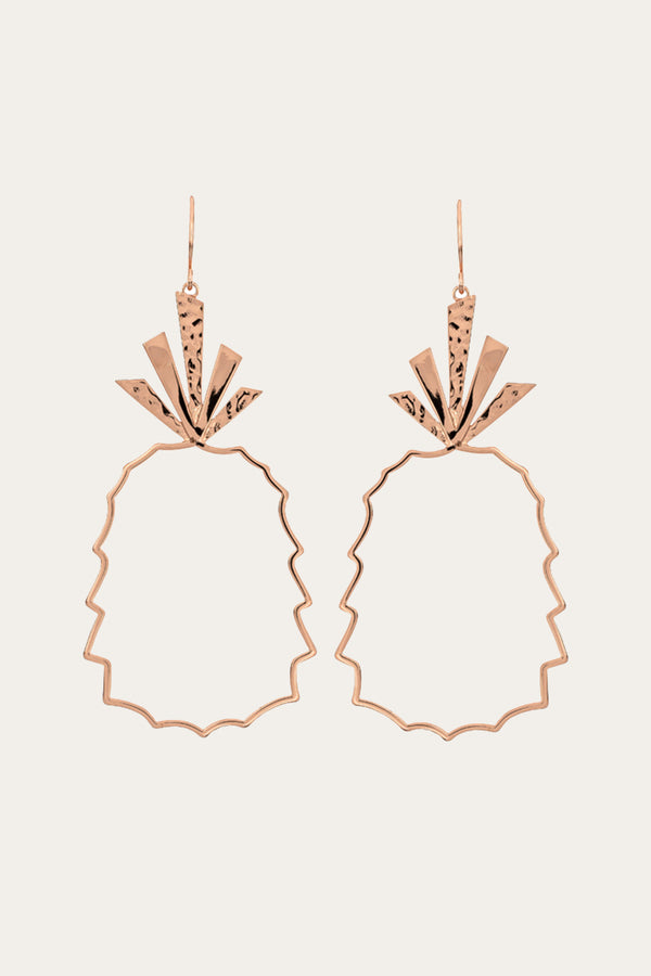 Golden Pineapple Drop Earrings