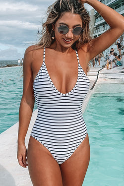 Lasting Appeal Stripe One Piece Swimsuit
