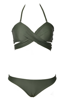 Cupshe Dance With Me Cross Bikini Set