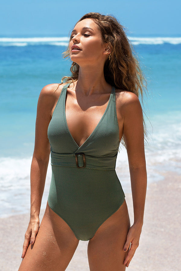Elisa Belted One Piece Swimsuit