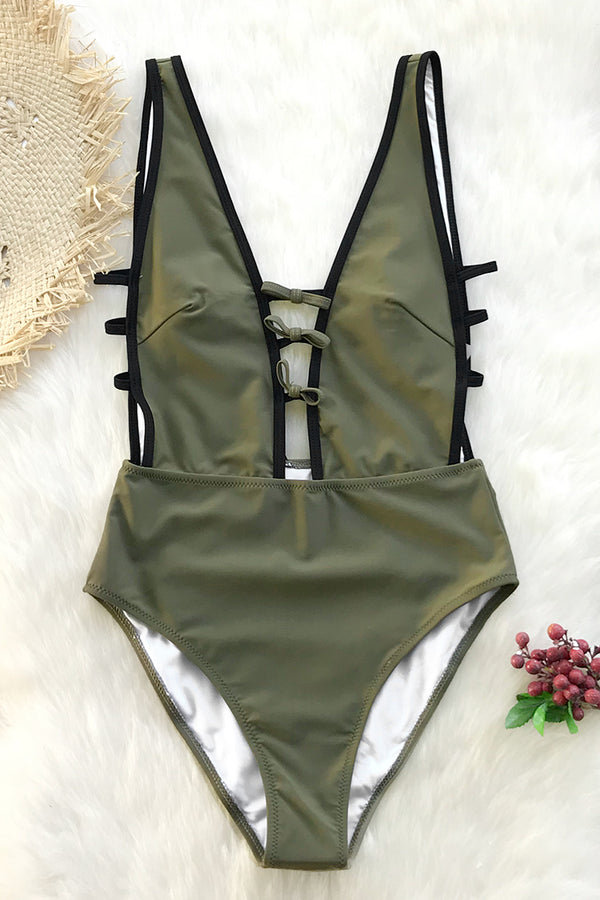 Flirty and Strappy One-piece Swimsuit
