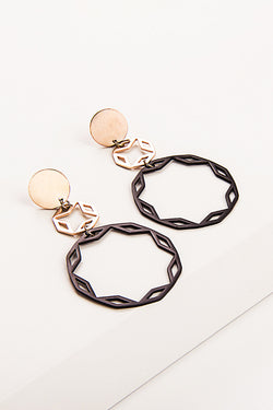 Metal Geometry Earrings