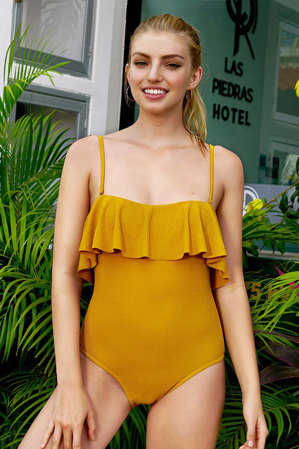 Arizona Sunshine Solid One-piece Swimsuit